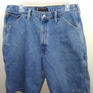 Vtg polo jeans blue painters shorts 33x12